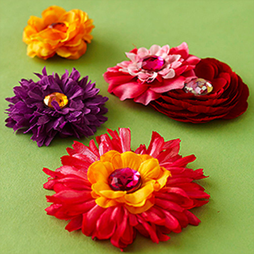 Flower-barrettes