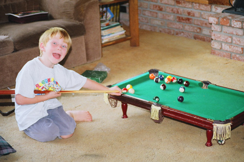 With-pool-table