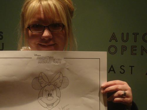 Megan-drawing-minnie