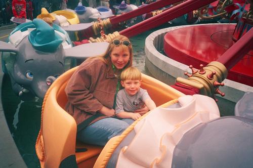 Meg-and-tom-on-dumbo-ride