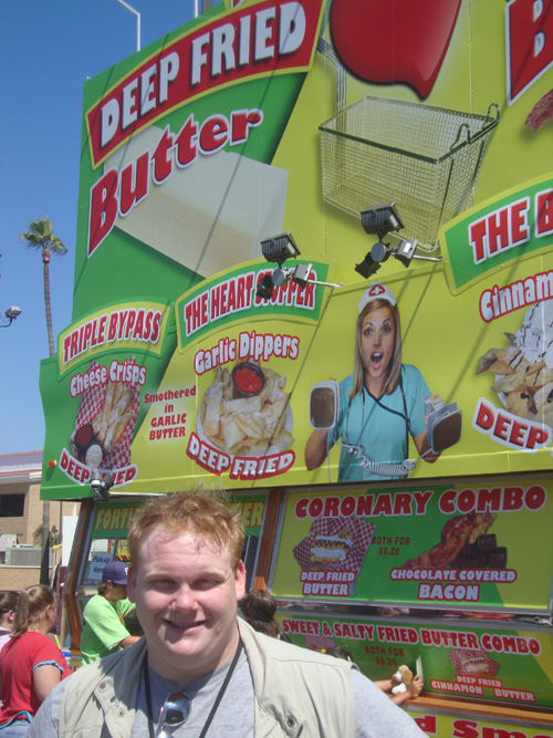 Mike-at-the-fried-butter-chocolate-bacon-stand