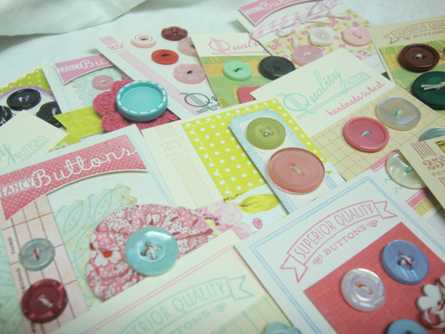 Button-card-pile