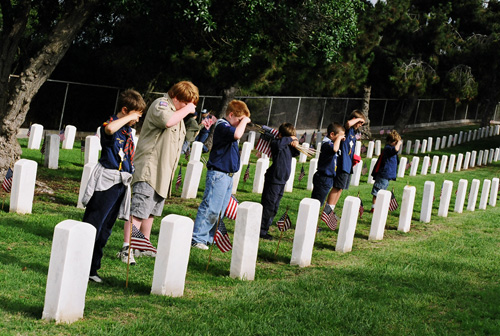 Boys-saluting