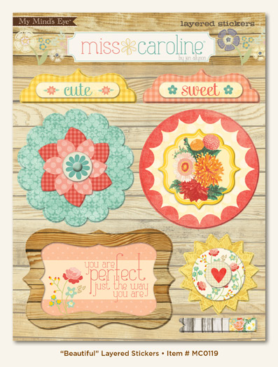 Miss caroline layered stickers